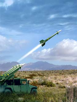 radar-guided missile
