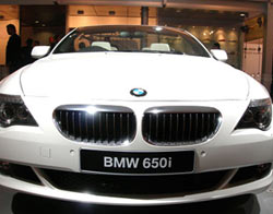 BMW 650i at the New Delhi Auto Show