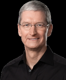 Apple Inc chief executive Tim Cook's