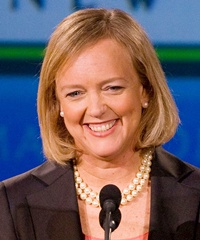 Meg Whitman, HP's chairman, president and CEO