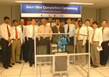 The TCS and SIMTech teams at the SmartBox launch in Singapore