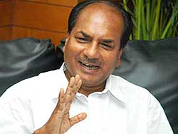 AK Antony, Indian minister of defence