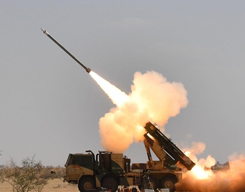 DRDO successfully tests extended-range Pinaka guided rocket