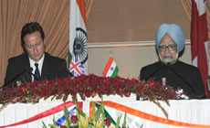 The Indian and UK PMs at a press meet
