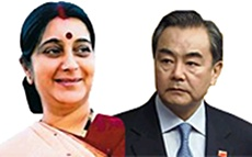 First meeting, external affairs minister Sushma Swaraj(L)