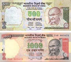 Are 500-1000 indian notes accepted at forex