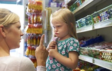 High calorific junk food exposed to children