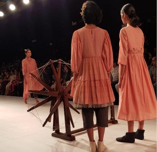 Khadi Makes A Big Splash At Lakme Fashion Week Domain B Com