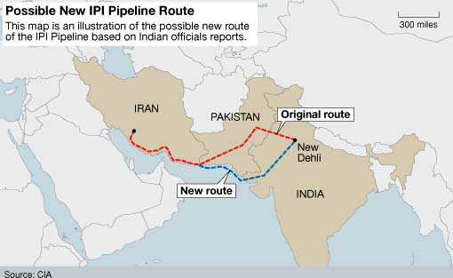 IndiaIran gas pipeline may boost as Modi is visiting Iran The – Map of Iran and India